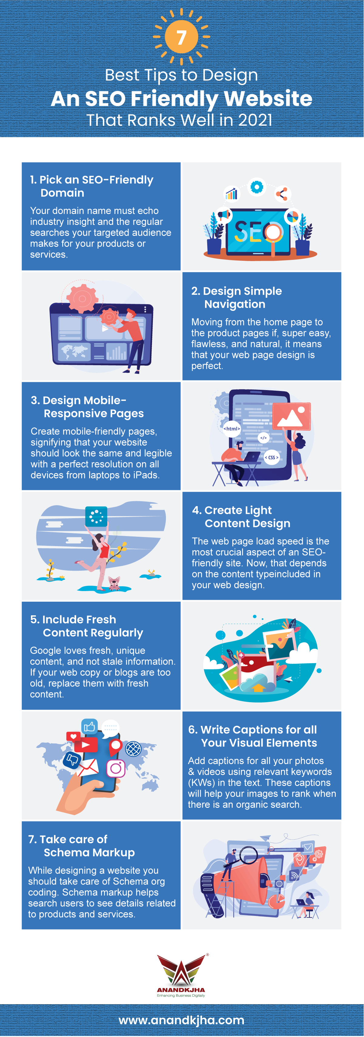 7 best tips to design an SEO friendly website that ranks well