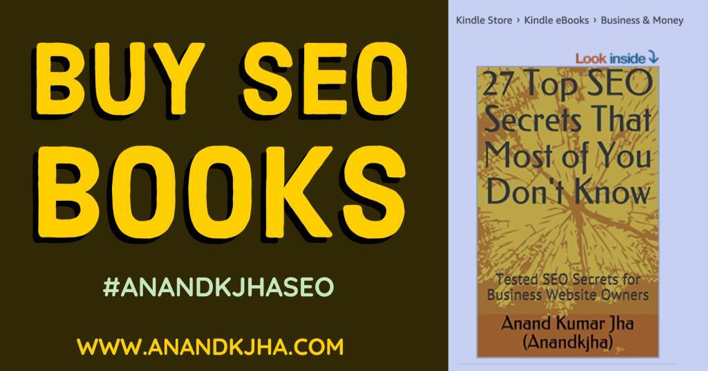 Buy SEO books by Anandkjha