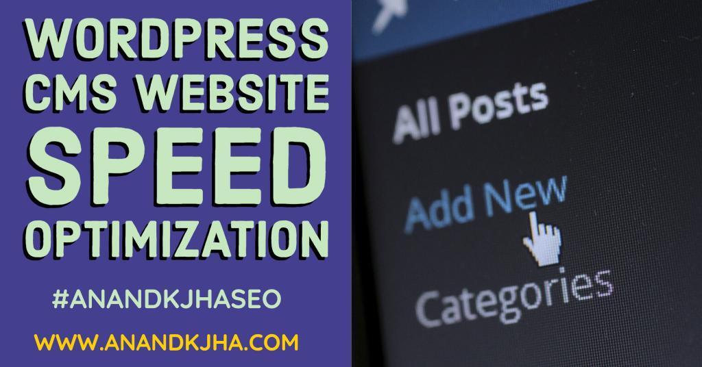Wordpress CMS Website Speed Optimization Services